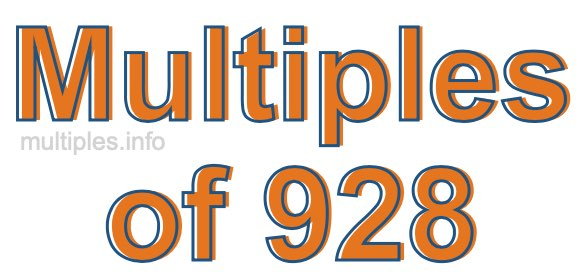 Multiples of 928
