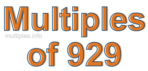Multiples of 929