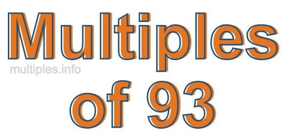 Multiples of 93