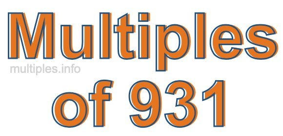 Multiples of 931