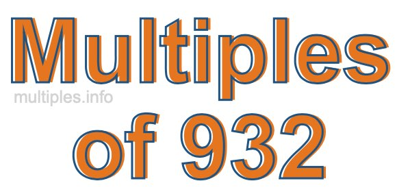 Multiples of 932