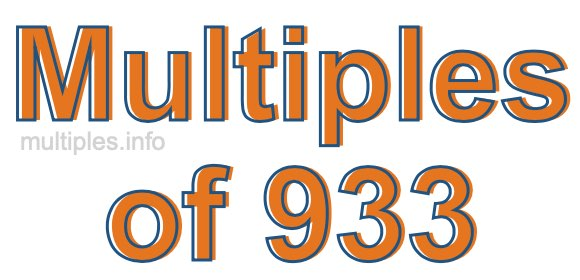 Multiples of 933