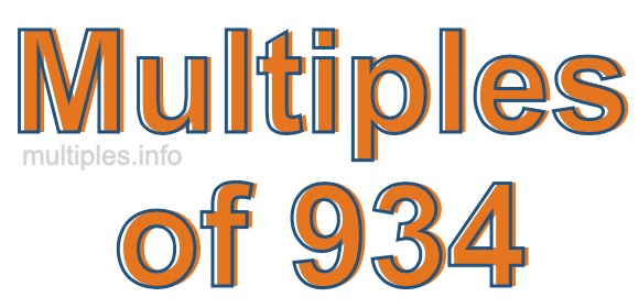 Multiples of 934