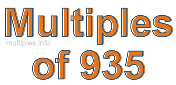 Multiples of 935