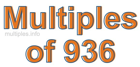 Multiples of 936