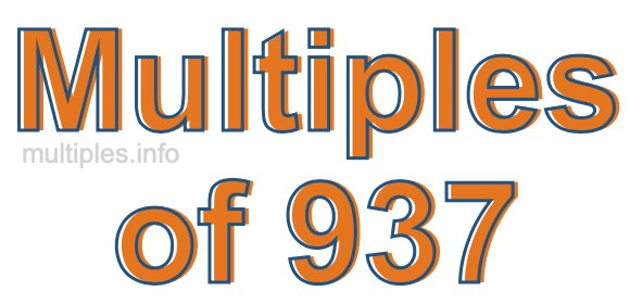 Multiples of 937