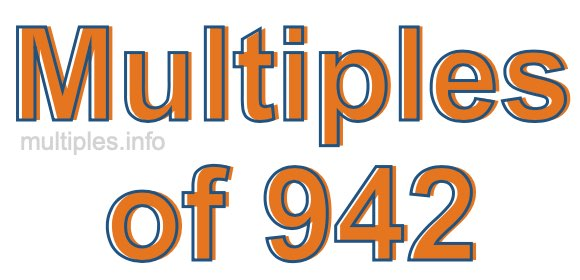 Multiples of 942