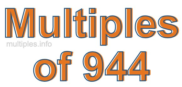Multiples of 944