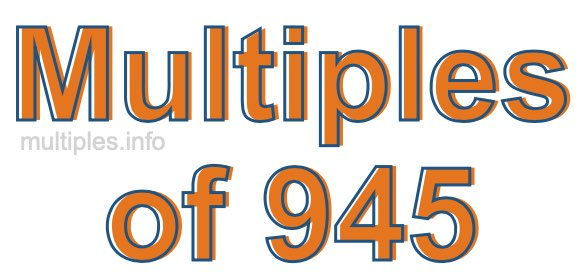Multiples of 945
