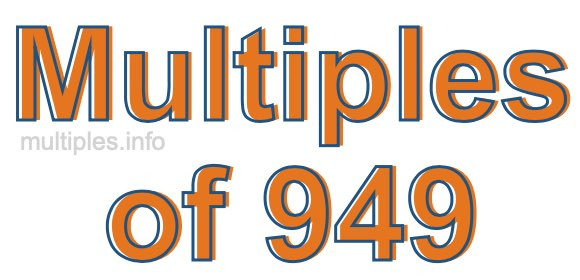 Multiples of 949
