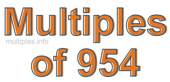Multiples of 954