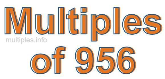 Multiples of 956