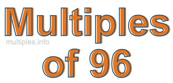 Multiples of 96