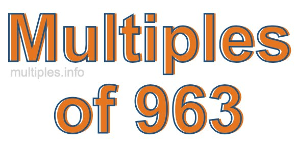 Multiples of 963