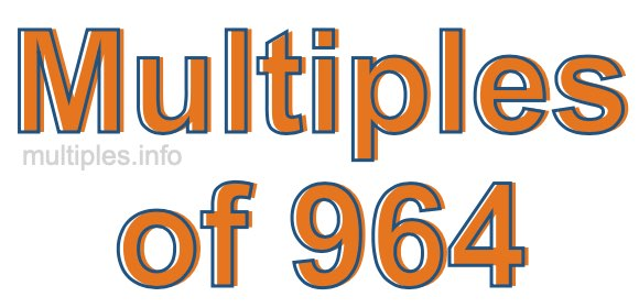 Multiples of 964