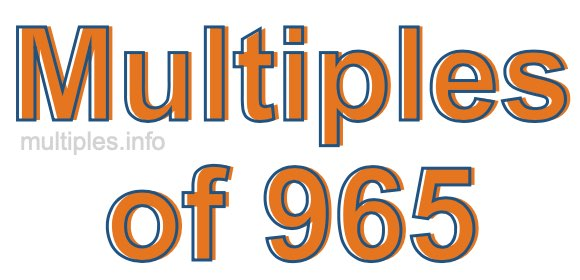 Multiples of 965