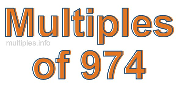 Multiples of 974
