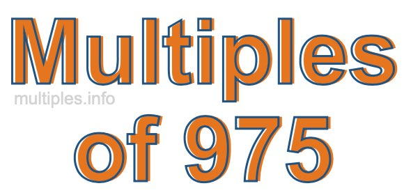 Multiples of 975