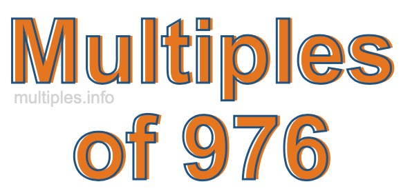 Multiples of 976