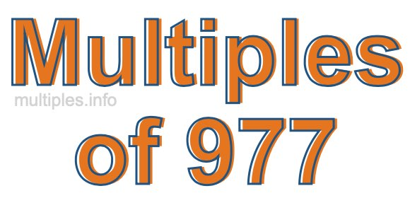 Multiples of 977