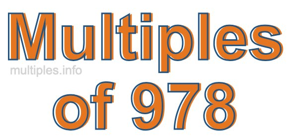 Multiples of 978