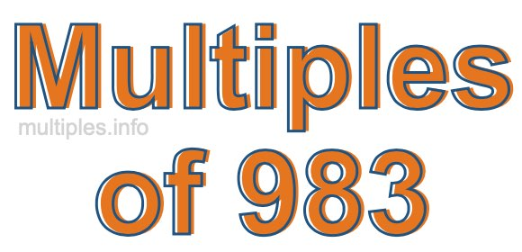Multiples of 983