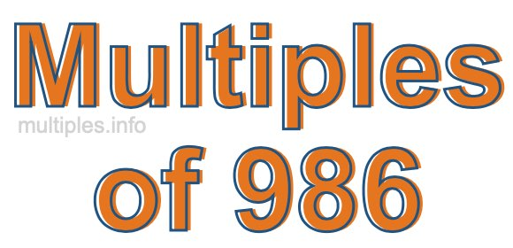 Multiples of 986
