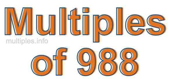 Multiples of 988