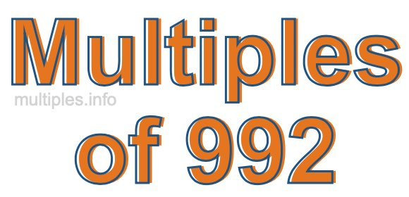 Multiples of 992