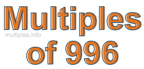 Multiples of 996