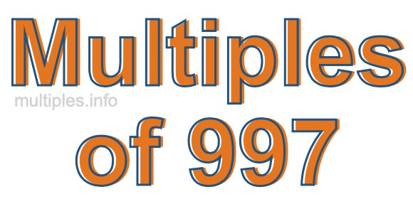 Multiples of 997